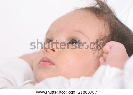 portrait of four month old  baby