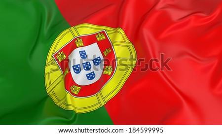 Portugal Flag - stock photo