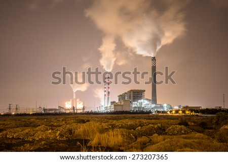 power plant Temelin, shanghai china. - stock photo