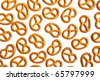 pretzels on white background - stock photo