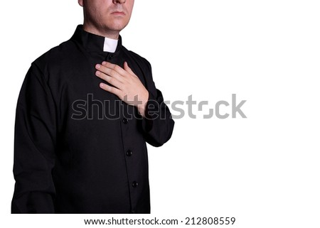 priest on white background - stock photo
