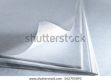 printer white  paper.  - stock photo