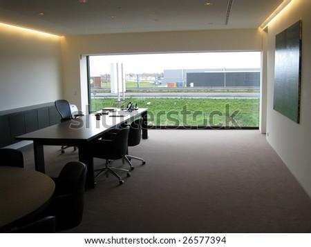 (private) office interior - stock photo