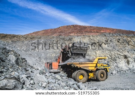 processes of extraction of iron ore in mine