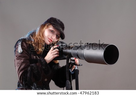 professional photographer - stock photo