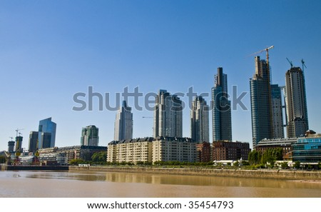 puerto madero is the new modern neighborhood  in Buenos Aires Argentina