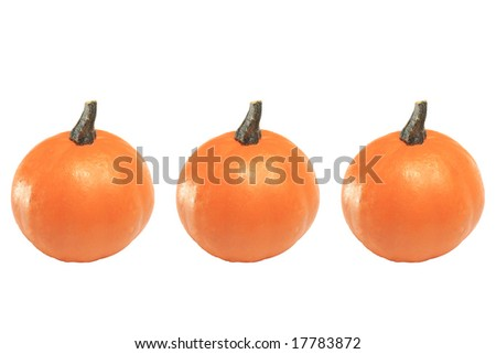3 Pumpkins - stock photo