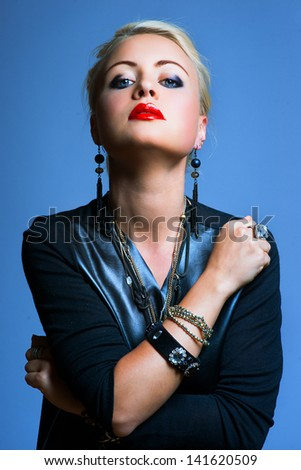 Punk Style Woman - stock photo