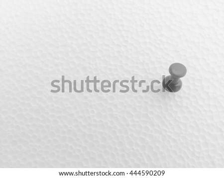 pushpin isolated on white background - stock photo