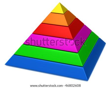 pyramid - stock photo