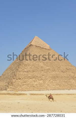 Pyramids in Giza - Cairo, Egypt - stock photo