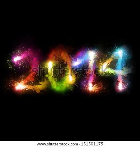 2014 pyrotechnics - stock photo