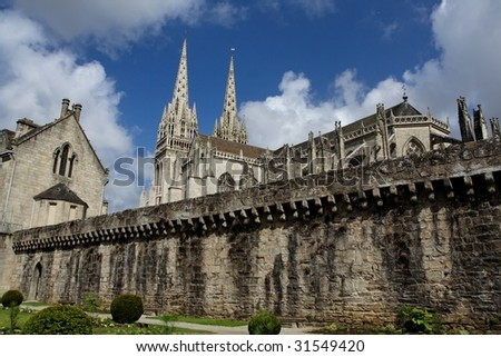 """""""Quimper"""" cathedral - stock photo"""