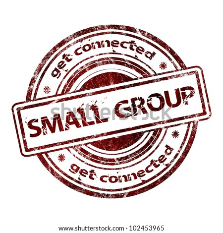 """Small Group"" Grunge Rubber Stamp - stock photo"