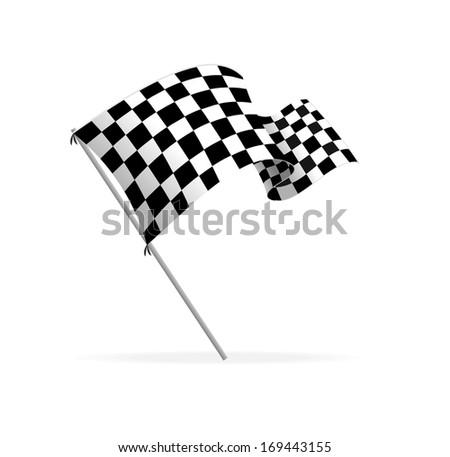 Racing flag - stock photo