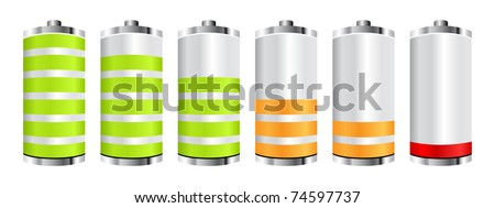 (raster image) battery chart - stock photo