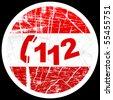 (raster image of vector) emergency phone number - stock photo
