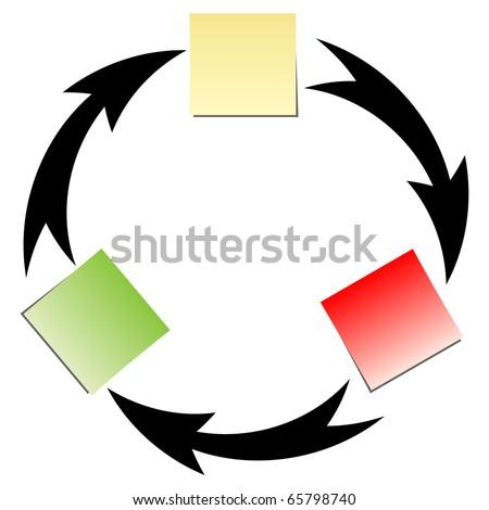 (raster image of vector) flow diagram - stock photo