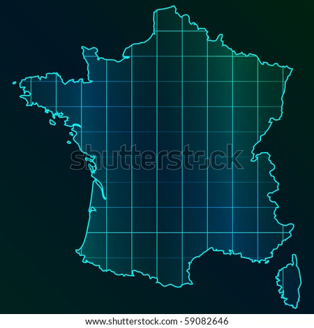 (raster image of vector) france map