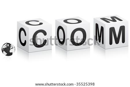 (raster image of vector) global communication - stock photo