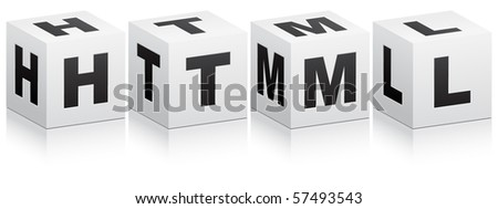 (raster image of vector) html code - stock photo