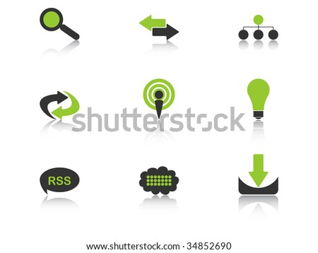 (raster image of vector) icons vector illustration - stock photo