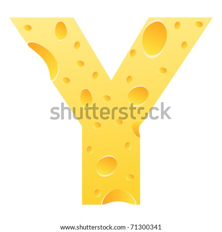 (raster image of vector) letter y - stock photo