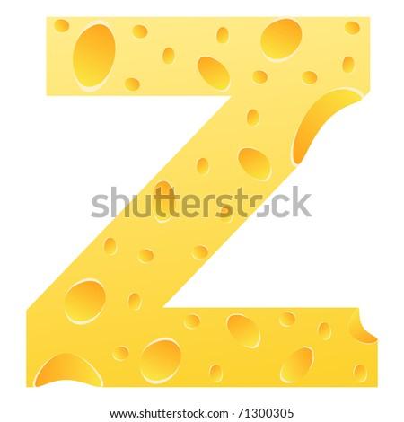 (raster image of vector) letter z - stock photo
