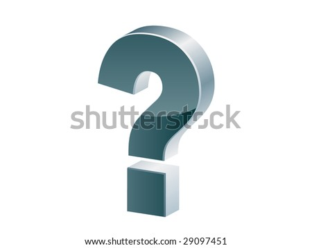 (raster image of vector) Question mark icon