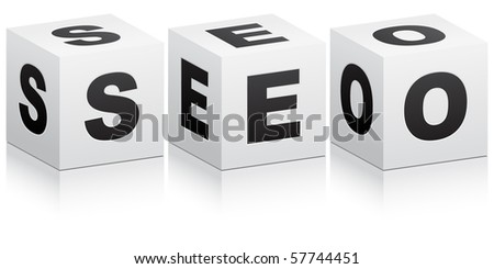 (raster image of vector) Search Engine Optimization - stock photo