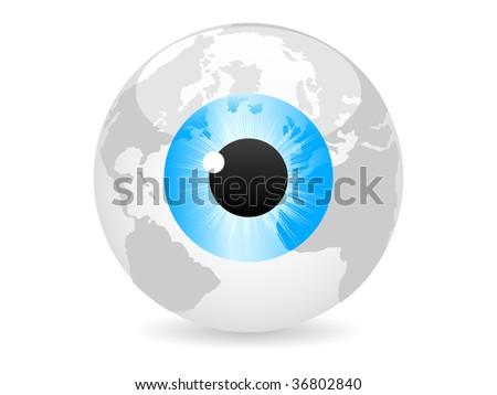 (raster image of vector) spy the world vector illustration - stock photo
