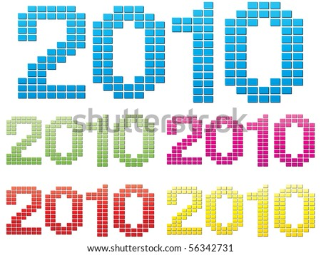 (raster image of vector) 2010 year