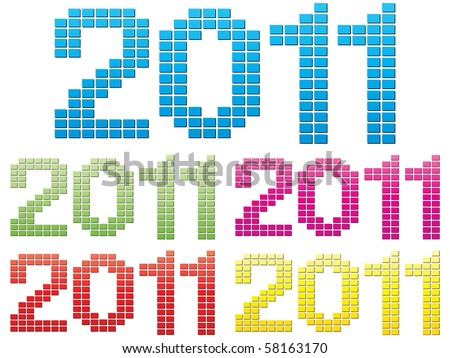 (raster image of vector) 2011 year