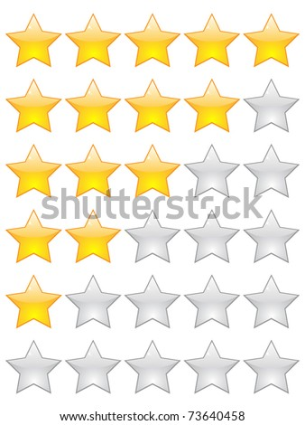 (raster image) rating stars - stock photo