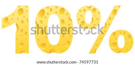 (raster image) ten percent discount - stock photo