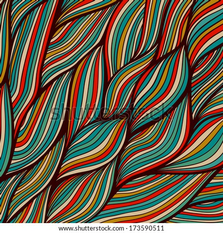 Raster seamless texture with abstract waves. Endless background. Ethnic seamless pattern. Wave backdrop. Bright pattern. Summer template. Use for wallpaper,pattern fills, web page background - stock photo
