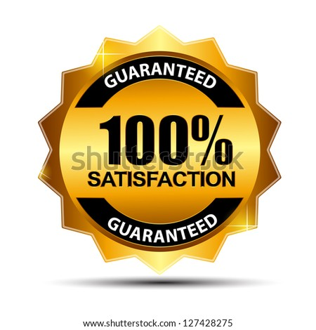 Raster version   100% satisfaction guaranteed  label . - stock photo