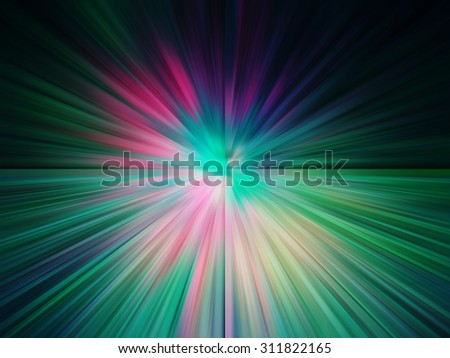 Ray light technology perspective green tone colorful technology bright