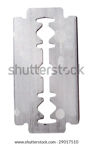 razor blade under the white background - stock photo