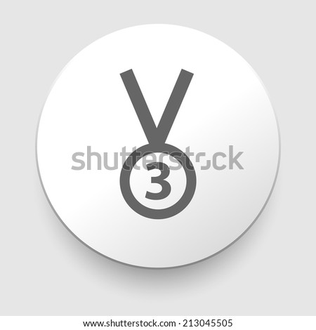 3rd Position Medal Icon - illustration. Flat design element - stock photo