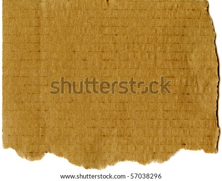 Real Corrugated Cardboard - stock photo