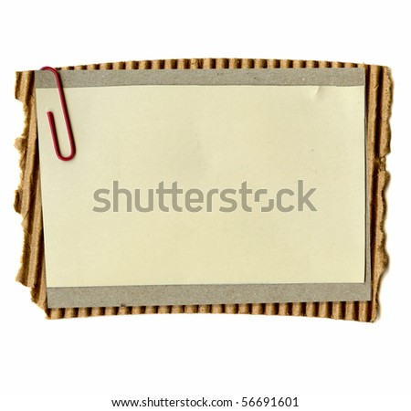 Real Paper On Corrugated Cardboard - stock photo