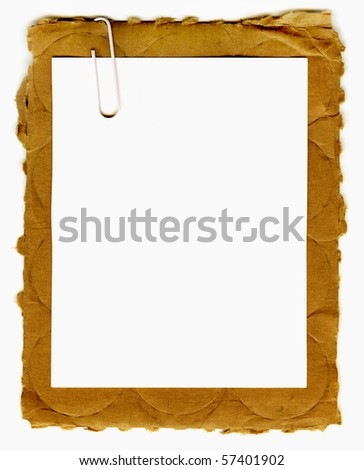 Real Paper On Torn Cardboard - stock photo