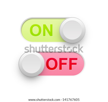 Realistic On Off Switch Icon illustration high resolution - stock photo