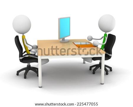 receptionist - stock photo