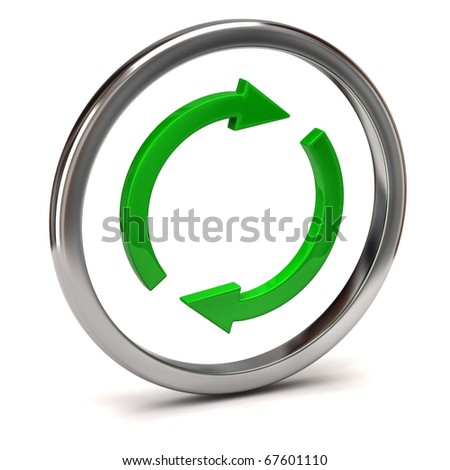 recycling icon - stock photo