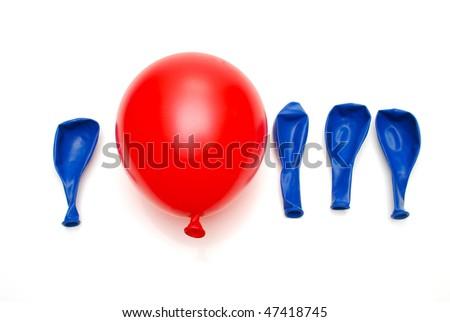red balloon  unique concept - stock photo