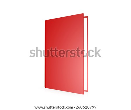 red book , isolated on a white background - stock photo