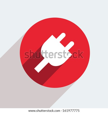red circle icon  on gray background.  - stock photo