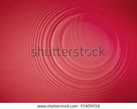 Red circle water ripple background - stock photo